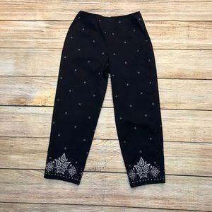 Women Talbots Pinup Capri Pants Size 10 Excnt Cond